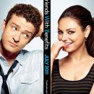 Friends With Benefits mini movie poster Justin Timberlake Mila Kunis 11 1/2 x 17 in FREE SHIPPING