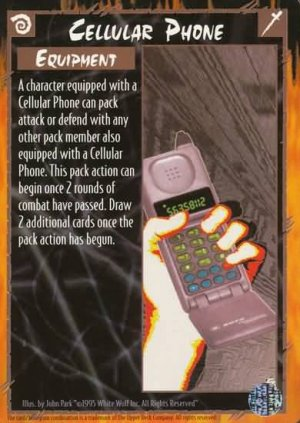 Rage Cellular Phone (The Wyrm) near mint card