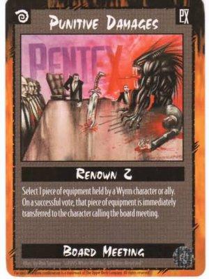 Rage Punitive Damages (The Wyrm) near mint card
