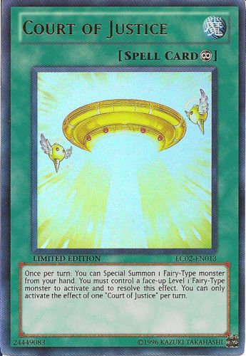 YUGIOH COURT OF JUSTICE near mint card ULTRA RARE HOLO LC02-EN013