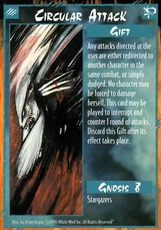 Rage Circuclar Attack (Unlimited Edition) near mint card