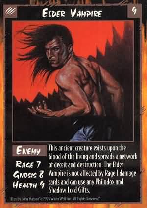Rage Elder Vampire (Unlimited Edition) near mint card