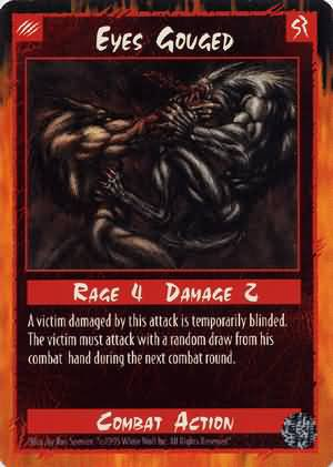 Rage Eyes Gouged (Limited Edition) near mint card