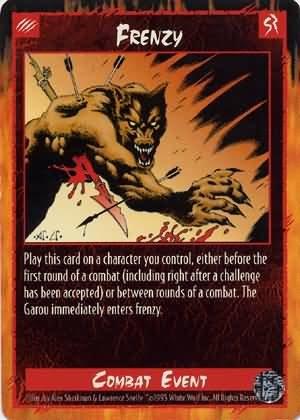 Rage Frenzy (Limited Edition) near mint card