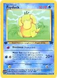 Pokemon Psyduck (Team Rocket) 1st Edition #65/82 near mint card