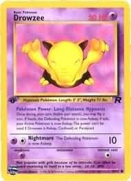 Pokemon Drowzee (Team Rocket) 1st Edition #54/82 near mint card Common