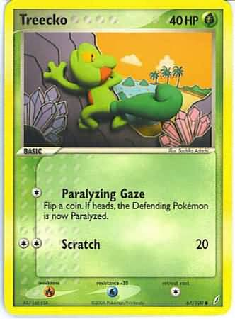 Pokemon Treecko (Crystal Guardians) #67/100 near mint card common