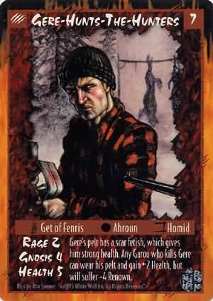 Rage Gere-Hunts-The-Hunters (Limited Edition) near mint card