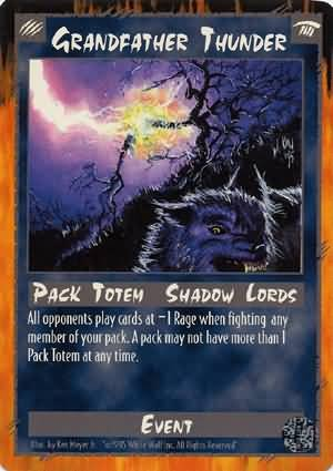 Rage Grandfather Thunder (Limited Edition) near mint card