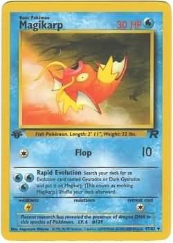 Pokemon Magikarp (Team Rocket) 1st Edition #47/82 near mint card uncommon