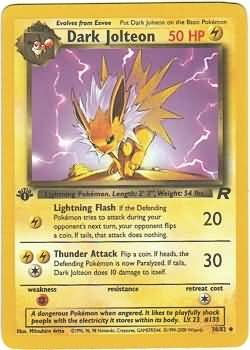 Pokemon Dark Jolteon (Team Rocket) Unlimited Edition #38/82 near mint card uncommon