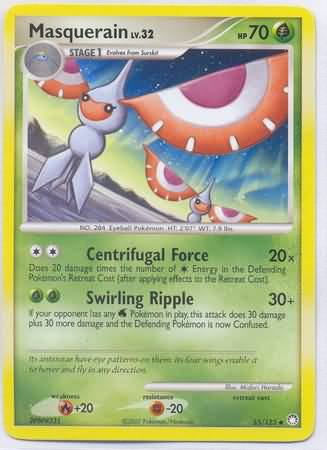 Pokemon Masquerain (Mysterious Treasures) Reverse Holo #55/123 near mint card uncommon