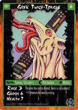 Rage Grek Twice-Tongue (Limited Edition) near mint card