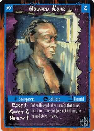 Rage Howard Koar (Unlimited Edition) near mint card