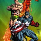STEVE ROGERS SUPER SOLDIER poster CAPTAIN AMERICA SUBMARINER TORCH POSTER 24x36 by DAVID FINCH