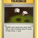 Pokemon Gambler (Fossil) Unlimited Edition #60/62 near mint card Common
