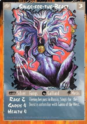 Rage Sings-For-The-Beast (Unlimited Edition) near mint card