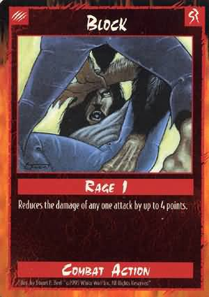 Rage Block (Unlimited Edition) near mint card