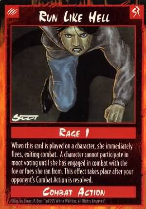 Rage Run Like Hell (Unlimited Edition) near mint card