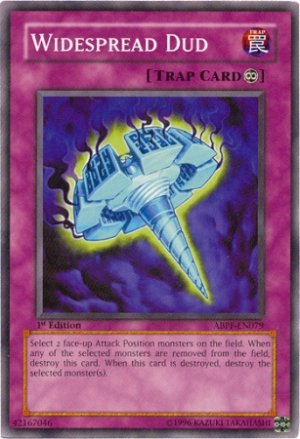 Yugioh Widespread Dud (ABPF-EN079) 1st edition near mint card Common