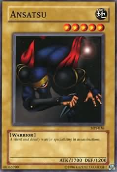 Yugioh Ansatu (SDY-016) unlimited edition near mint card Common