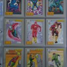 Vintage 1991 DC Cosmic Heroes Trading Card basic set of 180 cards