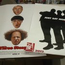 Lot of 2 The Three Stooges Movie Poster 27 x 40 Larry Moe & Curly (2012) x2
