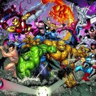 MARVEL UNIVERSE by NICK BRADSHAW POSTER 24 x 36 inches BRAND NEW FULL SIZE POSTER