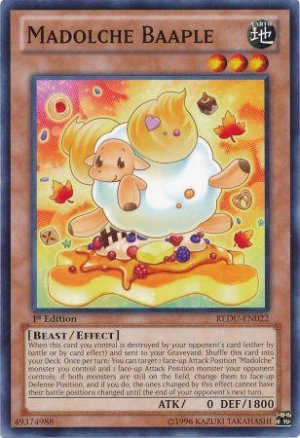 Yugioh Madolche Baaple (REDU-EN022) Unlimited edition near mint card Common