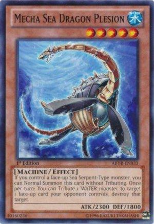 Yugioh Mecha Sea Dragon Plesion (ABYR-EN033) unlimited edition near mint card Common