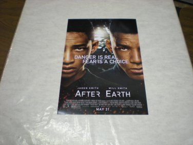 After Earth Advance Promotional Movie Poster Will Smith Jaden Smith Free Shipping