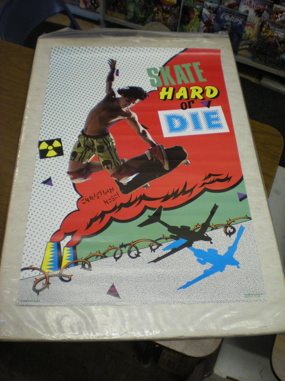RARE VINTAGE 1987 CHRISTIAN HOSOI SKATEBOARD POSTER