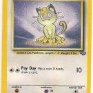 Pokemon Meowth (Jungle) Unlimited edition 56/64 near mint card Common