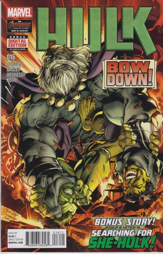 Hulk #16 (2015) Marvel Comics near mint comics or better.