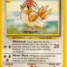 Pokemon Pidgeotto (Base Set One) 22/102 LP unlimited edition Lightly played Non Holo Rare