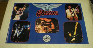 Vintage 1982 Saxon poster (never previously displayed) 22 x 32 inches