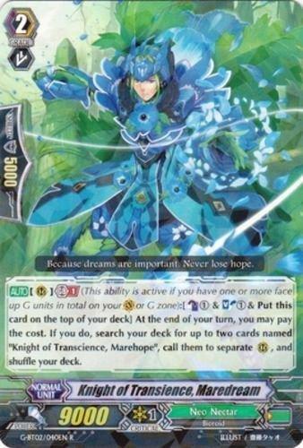 Cardfight! Vanguard Knight of Transcience, Maredream G-BT02/040EN near mint card Rare