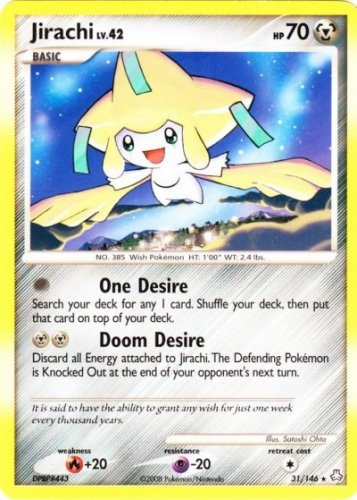 Pokemon Jirachi  31/146 near mint card non holo rare