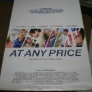 At Any Price Movie poster (27 x 40) d/s Zac Effron Heather Graham Dennis Quaid