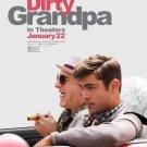 Dirty Grandpa Movie Poster FREE SHIPPING Robert De Niro Zac Effron