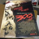 300 Regular Original Movie Poster Single Sided 27 x 40 inches