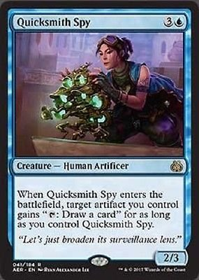 MTG Quicksmith Spy (Aether Revolt) near mint card Rare