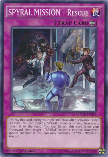 Yugioh SPYRAL MISSION - Rescue (MACR-EN089) 1st edition near mint card Common