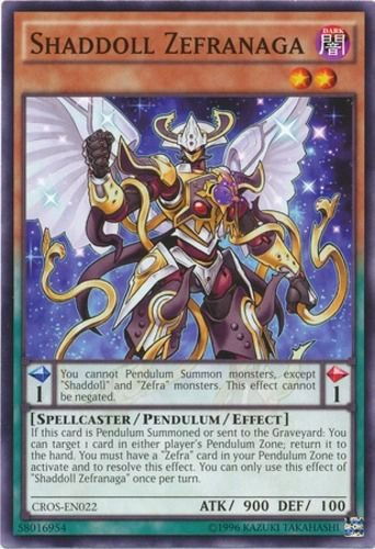 Yugioh Shaddoll Zefranaga (CROS-EN022) 1st edition near mint cards Common