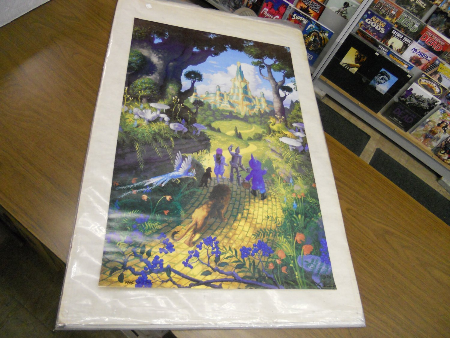Vintage 1987 Wizard of Oz poster (art by Greg Hildebrandt) never previously displayed 23 x 35 inches