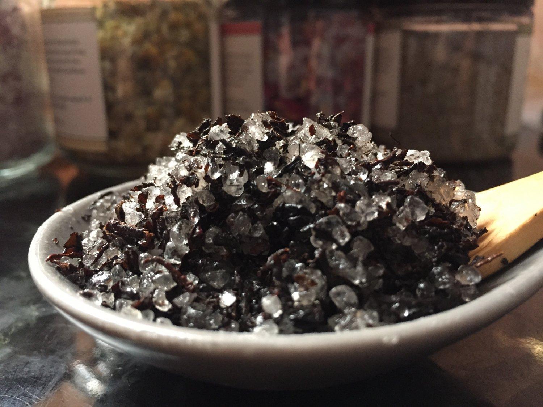 Organic Spearmint Black Tea Salt Scrub, Body Scrub 10 oz.