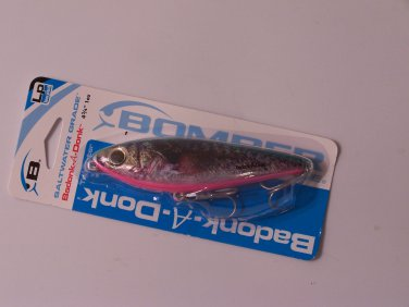 Bomber Badonk A Donk Low Pitch (LP) 4 3/4in Saltwater Grade lure color Natural Croaker B033