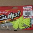 Berkley Gulp Jigging Grub Chartreuse 3in Bass Fishing Lure tackle smallmouth Crappie GJG3-CH 027