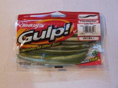 Berkley Gulp 5in Sinking Minnow Green Pumpkin Pearl Bass fishing lure tackle walleye GSM5-GPPE 032