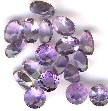 AMETHYST FACETED GEMSTONES Loose Gems - 24 Carat Lots